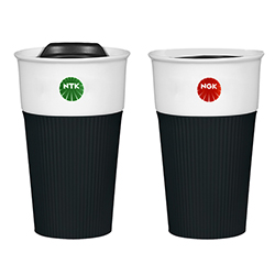 NGK/NTK Ceramic Mug with Silicone Sleeve